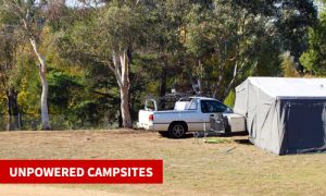 unpowered camping canberra